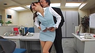 Japanese office sex. Pantyhose fetish