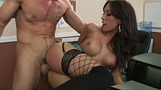Capri Cavalli having sex at work