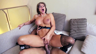 Esperanza Gomez riding meaty cock reverse cowgirl