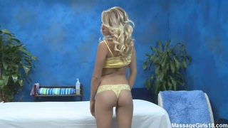 Young beautiful sexy massagist