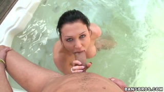 Brunette Aletta Ocean is fucking in jacuzzi