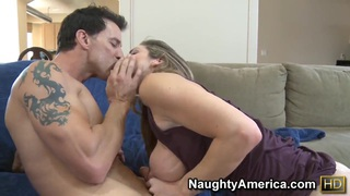 Awesome Kayla Paige let's her nighbour to ravage her tight cunt