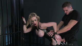 BDSM XXX Big breasted blonde gets a hardcore lesson