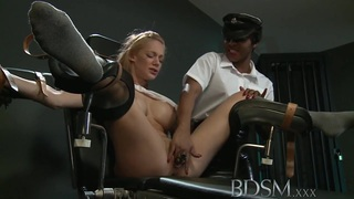 BDSM XXX Big breasted subs are tied up and pumped