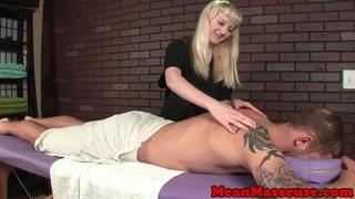 Dominating masseuse beauty wanks client