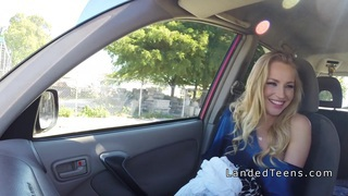 Teen hitchhiker takes huge dick pov