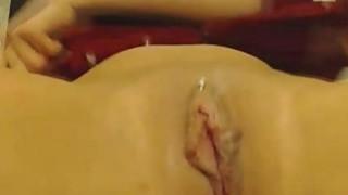 Brunette Cums on Dildo