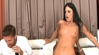 India Summer jumping on huge lovers cock