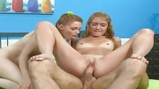 Hot threesome with teens next door