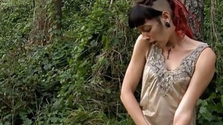 Emo Slut Fingering Outside