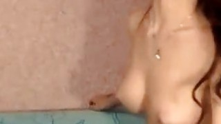 Hot Blonde Teen Plays with Huge