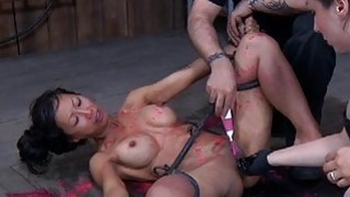 Geeky sweetheart is bounded for violent agony