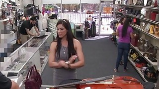 Veronica fucks with the pawnshop owner and satisfied her sexual needs