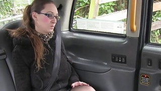 Tattooed busty amateur bangs in taxi euro spycam