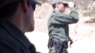 Redhead In A Skirmish With Border Patrol