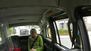 Short blond hair passenger fucked in the cab to off her fare