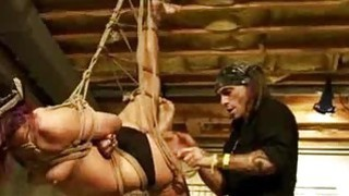 Shibari Suspended And Spanked