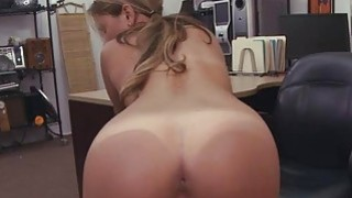 Cutie waitress babe sells her pussy for some cash