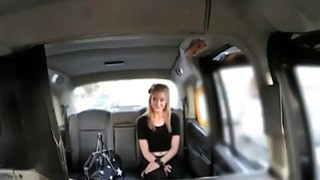 Blonde firl in stockings fucked by fake driver for free fare