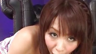 Maika plays with pussy in solo before sucking a big dick