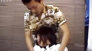 Chiharu gives hot blowjob at office