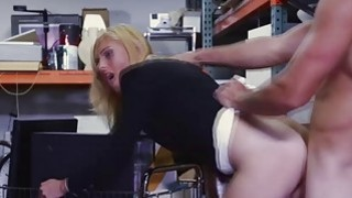 Horny babe fucking a massive hard dick for cash