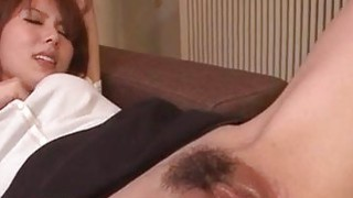 Yui Hatano gets two cocks to smash her tight holes