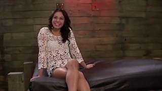 Horny mistresses pound sweet brunette hottie Isa Mendez