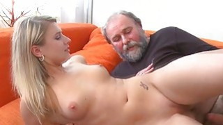 Young chick acquires banged from behind by old guy