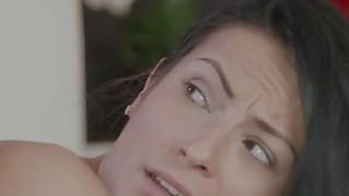 Petite brunette girlfriend banged till orgasm