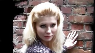 Blonde bimbo endures hardcore deep anal