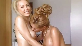 Two Blonde Teens Having Hot Morning Fun