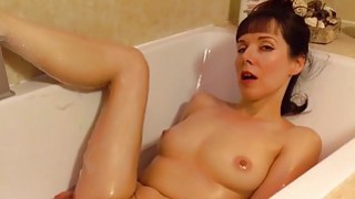 Beautiful mature masturbating in the bathroom