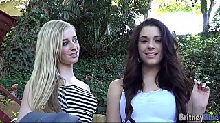 Lesbian teens having fun on camera
