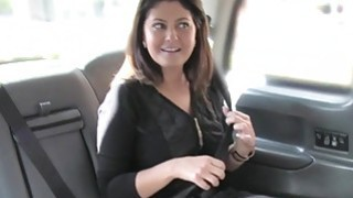 Perfect big tits babe fucked in fake taxi