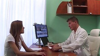 Slim patient gets bad doctors dick in office