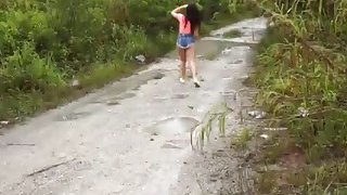 Teen Hitchhiker Brittany Forced To Pound Outdoors