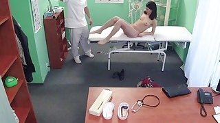Slim patient bangs doctor in office
