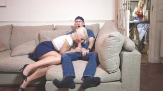 Blonde Lovita Fate is sucking Danny D's huge boner