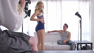 Teen blonde gets casted