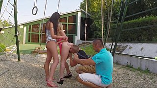 Outdoors foursome