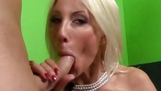 Swedish MILF Puma Swede swallows a fat rod in POV