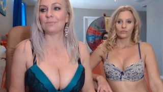 Two Blonde Fairy Sharing One Dildo For Pleasure