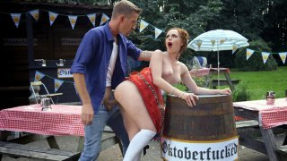 Ella Hughes gets fucked by Danny D at the Oktoberfest