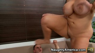 Fat cellulite ass swallows thin cock. Angelina Castro gets fucked
