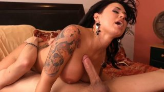 Legendary brunette babe Eva Angelina rides cock with her sizzling pussy