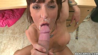 Demoness Lily Paige gets banged hard on a casting